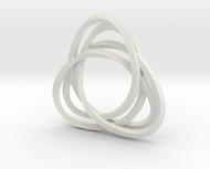 Tri mobius twin 2mm rail pendant