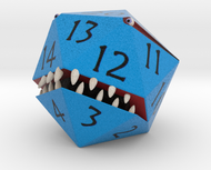 D20 Blue Monster Figurine