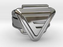 Custom Doctor Evil Ring v2 18.34mm Size 8 1/4 in Premium Silver