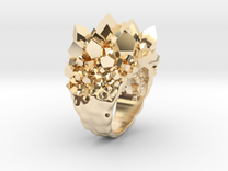 Double Crystal Ring Size 10 in 14K Gold