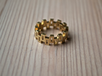 """Boxiness"" Ring - Size Large in Raw Brass"