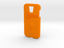 Galaxy S4 Splatoon Case (speaker to front) in Orange Strong & Flexible Polished