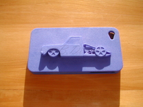 Pimp Palace Customs iPhone 4 Case in Blue Strong & Flexible Polished
