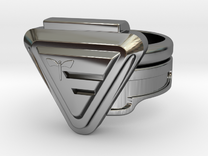 Doctor Evil Ring Size 10.25, 20.2mm in Premium Silver
