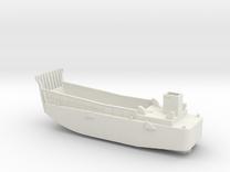 LCM3 Landing craft 1:144 scale for Big Gun Warship in White Strong & Flexible