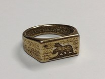 Size 9 - New California Republic ring in Polished Bronze Steel