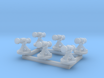 6mm Missile Launchers (x6) in Frosted Ultra Detail