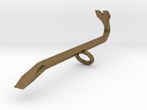 Crowbar pendant in Raw Bronze
