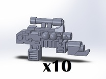 10x Flamer Combination Weapons in Frosted Ultra Detail