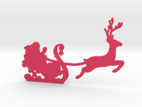 Santa Wall Decal in Pink Strong & Flexible Polished