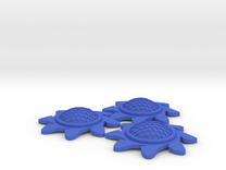 X-Wing Stackable Shield Token 3 Pack (Starburst) in Blue Strong & Flexible Polished