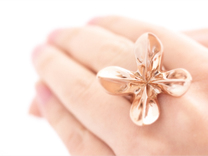 HelixRing USsize 5 in 14k Rose Gold Plated
