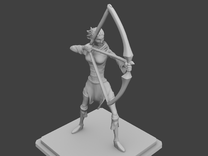 Rogue Archer figurine in Frosted Ultra Detail