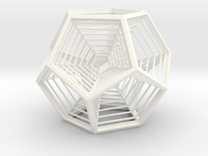 Nested Dodecahedral Engram in White Strong & Flexible Polished