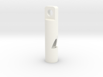 Whistle - small, powerful  ! ( 90 - 91 dB ) in White Strong & Flexible Polished