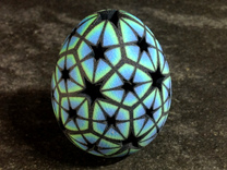 Mosaic Egg #13 in Full Color Sandstone