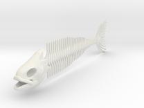 "FISH SKELETON 12"" in White Strong & Flexible"