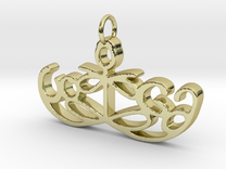 Yoga Glee Pendant Symbol and Text in 18k Gold Plated