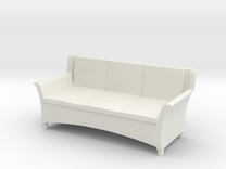 1:48 Wicker Couch in White Strong & Flexible