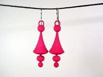 Luna Earrings in Pink Strong & Flexible Polished