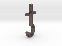 Satanic Cross Pendant in Stainless Steel