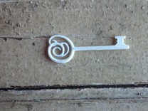 Wrought Key in White Strong & Flexible