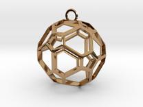 Pentagon Jewel in Polished Brass