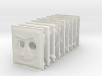 miniFloppyBot Faces Kit in White Strong & Flexible