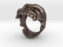 Skull bottle opener Ring Size 10 in Stainless Steel