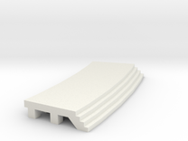 Curved Outside Platform - No Shelter in White Strong & Flexible