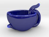 Peach Candy Cup in Gloss Cobalt Blue Porcelain