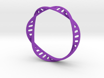 DNA Bracelet (Large) in Purple Strong & Flexible Polished