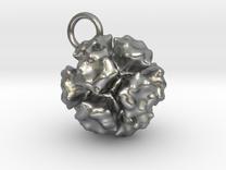 Adenovirus Pendant 15mm  in Raw Silver