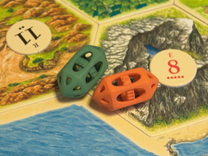 D6 dice cage in Orange Strong & Flexible Polished