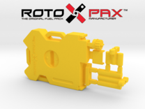 AJ10043 RotopaX 2 Gallon Fuel Pack - YELLOW in Yellow Strong & Flexible Polished
