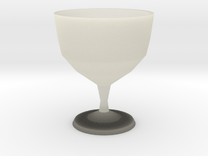 "Ceramic wine goblet - 5"" (12.5cm) tall in Transparent Acrylic"