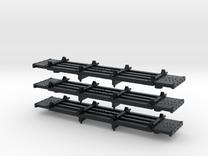 N Scale West Side '4 Bunk' Skeleton Log Car in Black Hi-Def Acrylate