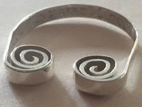 Scroll Ring   in Polished Silver: 5 / 49