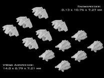 (Armada) 6x V-Wing Airspeeder + 6x Snowspeeder in Frosted Ultra Detail