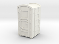 Portable Toilet 01. 1:22 Scale in White Strong & Flexible