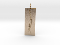 Spine Pendant 2 With Atlas2 in Polished Gold Steel