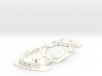 S02-ST1 Chassis for Carrera BMW M3 DTM STD/LMP in White Processed Versatile Plastic