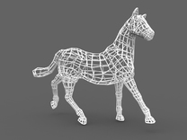 2014 Year of the Horse- Nylon (Large) in White Strong & Flexible