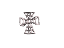 Crusader Cross Earring #2 in White Strong & Flexible Polished