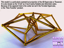 Toroidal Hypercube 80mm 1.5mm Time Traveller in White Strong & Flexible