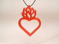 Flaming Heart No.01 in Red Strong & Flexible Polished