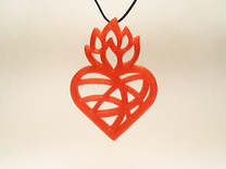 Flaming Heart No.02 in Red Strong & Flexible Polished