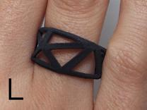 Comion ring large in Black Strong & Flexible