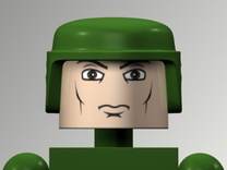 GI Joe Helmet For Minimates in White Strong & Flexible Polished