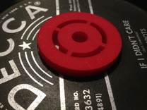 45rpm Record Adaptor  in Red Strong & Flexible Polished